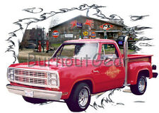 1979 Red Dodge LiL Red Express Truck Hot Rod Garage T-Shirt 79,78 Muscle Car Tee