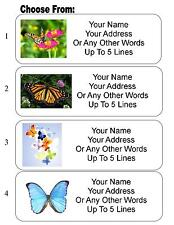 30 Butterfly / Butterflies Personalized Address Labels