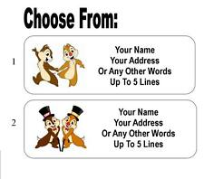 30 Chip and Dale Personalized Address Labels