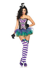Sexy Fantasy Mad Hatter Wonderland Outfit Adult Women's Halloween Costume NEW