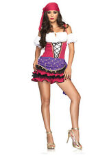 Sexy Crystal Ball Gypsy Tarot Card Reader Outfit Adult Women's Halloween Costume