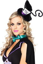 Women's Sexy Deluxe Mad Hatter Sequin Hat Adult Halloween Costume Accessory NEW