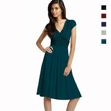 Ruched Cap Sleeves Chiffon Cocktail Evening Dress Prom Party Wear co3632