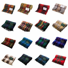 Highland/Edinburgh All Wool 100% Wool Blankets/Rugs in Traditional Tartans