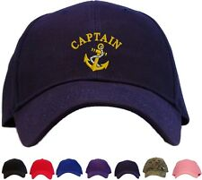 Captain with Anchor Embroidered Baseball Cap - Available in 7 Colors - Hat