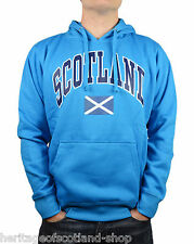 Scotland Saltire Flag Unisex Hooded Top, Long Sleeve, Sapphire Blue, All Sizes