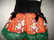 Black,Red,Green,Gold Christmas, Lace Frilly Festive Mini Skirt,Gift-All sizes
