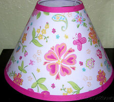 DAISY GARDEN PARTY Lamp Shade made w Pottery Barn Kids Pink Green or Lavender