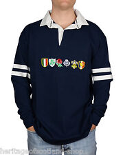 Six Nations Long Sleeve Rugby T-Shirt, Navy, All Sizes!