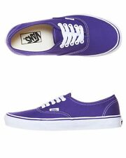 Vans Shoes Authentic USA SIZE Purple Iris True White Skate Board Surf FREE POST