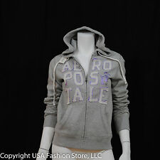 Aeropostale Women Hoodies - Stacked 87 Gray NWT