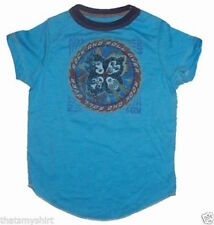 T-Shirts New Rowdy Sprout Kiss Faces Vintage Inspired Kids T-Shirt in Blue