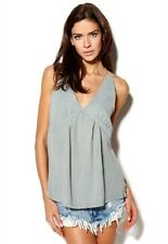 Vero Moda RRP £35 Natalie Shadow Grey Strappy T Shirt Top UK  12 E 40 UK 14 E 42