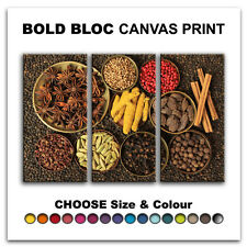 Spices FOOD & DRINK  Canvas Art Print Box Framed Picture Wall Hanging BBD