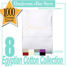 1000TC 100% COTTON FITTED SHEET 8 Colors King/Queen/Double/Single/KS Size