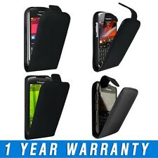Leather Flip Case Cover Pouch & LCD Screen Protector For Blackberry Mobile Phone