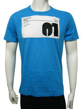 Mens G-Star T Shirt Fitted Top Black Box 01 Embro - Blue Size S to XXL MG27D28