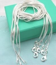 Hot Gift 10pc Silver Snake Chain Necklace 1MM Fit for European Beads Pendant