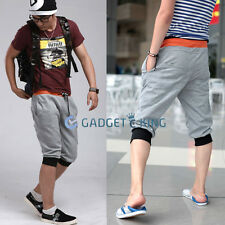 Mens Sports Gym Jogger Loose Casual Shorts Harem Pants Trousers 4 Color M L XL