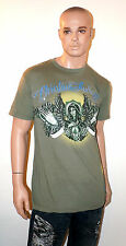 CHRISTIAN AUDIGIER Ed Hardy VIRGIN MARY T-Shirt RHINESTONE Green Shirt Tee Mens