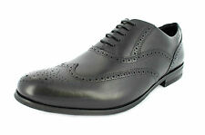 Clarks mens lace up smart / formal style shoe Black Leather BRINT BROGUE G fit