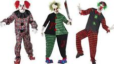Mens Fat Scary Zombie Clown Halloween Horror Evil Circus Fancy Dress Costume