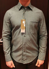 BOSS Orange Mens Grey/White Fine Stripe Casual Shirt BNWT RRP £95