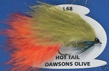Fly Fishing Trout Flies HOT TAIL DAWSONS OLIVE (L68) Trout Lure Stillwater Flies