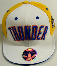 NBA Oklahoma City Thunder Adidas Premium 210 Fitted Flat Brim Flex Cap Hat NEW!