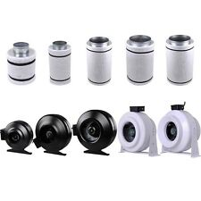 """4/6/8/10/12"""" Inline Exhaust Fan Blower Carbon Filter Scrubber Combo Hydroponic"""