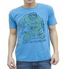 New Authentic Mens Junk Food Vintage Inspired Hulk Every Day Im Smashing T-Shirt