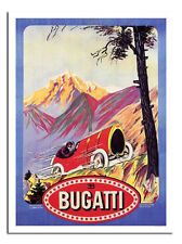 Bugatti Car Advert Retro Vintage Art Poster Print New