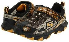 Skechers Boys Infant Toddler Hot Lights Ibex Humvee CAMOUFLAGE Trainers