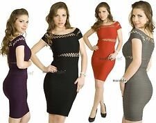 S M L Bandage ONE SIZE SEXY Basic Cut out Cutout Casual Fitted Mini Dress Tunic