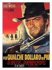 Clint Eastwood For a Few Dollars More Vintage Movie Print Framed Available