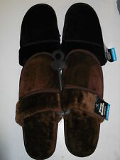 MENS MULES SLIPPERS SIZES 6/7, 8/9, 10/11 BLACK OR BROWN (W-88422)
