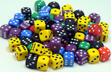 50 of Opaque Six Sided Spot Dice, size 10mm - D6 RPG -  Game Dice - Wargaming