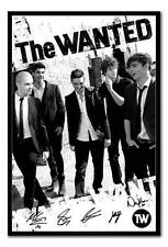 Framed The Wanted Black & White Poster Ready To Hang - Choice Of Frame Colours