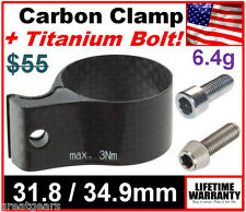 Campagnolo 31.8mm or 34.9mm Carbon Fiber Front Derailleur Braze On Clamp Adapter