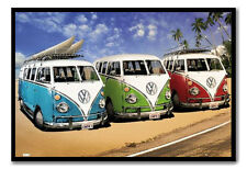 VW Campers On The Beach Large Magnetic Notice Memo Board Includes Magnets