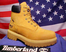 TIMBERLAND PRO MEN WATERPROOF COMFORT SYSTEM WHEAT COLOR WORK BOOTS 65030