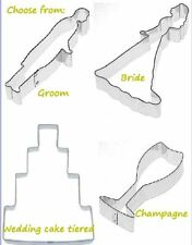 Bride Groom Champagne glass Wedding cake cookie cutter