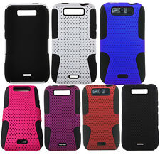For LG Connect Viper 4G MS840 LS840 Mesh Fishnet Hybrid Rubber Hard Case Cover