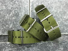 New 22mm Army Green Nylon Diver Strap 4 Rings Watch Band fit ZULU Maratac 22 A 5