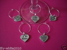 Ideal for Crafts scrap booking Wine Glass Charms - I Love Essex - Football Crazy
