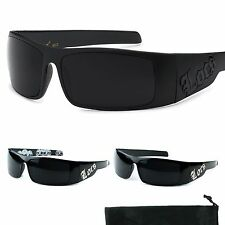 Locs Sunglasses Black White Skulls Shades Mens Sunglass Wrap Sun Glasses 9072
