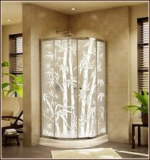 New BIG BAMBOO Etched Glass Privacy Decorative Static Cling Window & Door Film