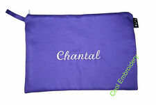 Personalised XLarge Drill pencil case 31cm by 22cm pouch bag COLOUR CHOICE