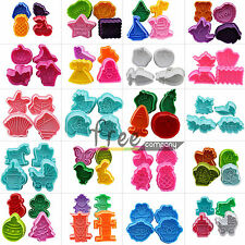 DIY Fondant Cake Cookie Biscuit Sugarcraft Plunger Cutters Cupcake Decor Mold