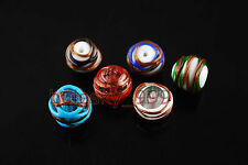20 Charms Czech Lampwork Glass Handmade Wrap Double Color Spacer Beads 16x14mm